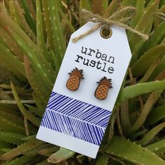 Au Naturel Pineapple wooden stud earrings Leather Accessories, Leather Jewelry, Rustic Jewelry, Pineapple, Stud Earrings, Christmas Ornaments, Holiday Decor, Design, Home Decor