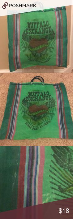 ‼️ buffalo exchange bag ‼️ Brand: Buffalo Material: mesh  Condition: good   Measurements: 20 1/2 wide & 21 1/2 height ✨✨✨✨  *** some stains to the bag, please see ALL pictures ******* Buffalo Bags Travel Bags