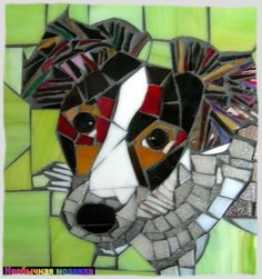 UNUSUAL MOSAIC: Dog mosaic