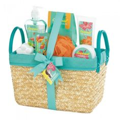 COCONUT LIME TROPICAL SPA BASKET SET #SpaPleasure