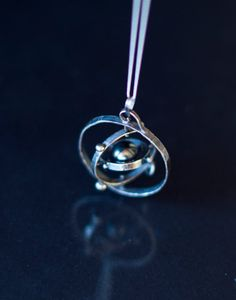 Solar System Necklace Pendant Spinning Solar by MirielDesign