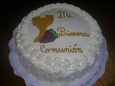 Pasteles De Primera Comunion   torta de pina con bizcocho de chocolate diseno de primera comunion 20 ...