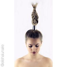 "Elisha Lunaire on Instagram: ""Model: @_msaw Hair & Styling: @elishalunaire Make Up: @_msaw Photography: @kieronthebarber #hairdressing #hair #hairup #blonde #braids #photoshoot #editorial #metallic #smashbox #itsallaboutdahair #unicorntribe #hairbesties #creativestyling #hairdressinglife #salonlife #rhapsodyhair #hairbyelisha"""