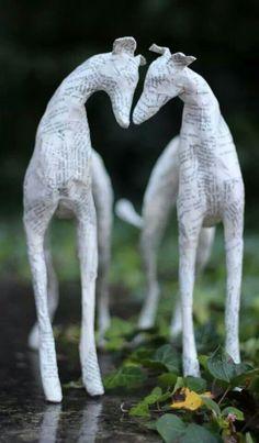 Greyhound sculptures (I believe this is Lorraine Corrigan's work.)