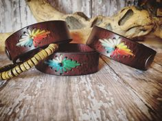 "Only $20 in my Etsy shop. Fits 6.5"" wrist size. Follow me on Facebook. DGierat Leather Designs"