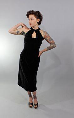 1950s Vintage DressHEARTSTRINGS PULL Bombshell by stutterinmama, $142.00