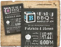 Baby shower invitation  Coed baby shower or for by 2birdstudios, $20.00