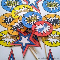 - Home Printables Amazing Free Superhero Party Printables! – Home Printables<br> Planning a superhero themed birthday celebration? Get these over 30 sheets of free superhero party printables for your next party! Superhero Party Invitations, Superhero Theme Party, Superman Party, Superhero Pop Art, Superhero Cake, Superhero Cupcake Toppers, Cupcake Toppers Free, Avenger Party, Pop Art Party