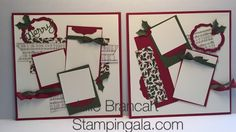 Two page layout for my month Scrapbooking Club featuring Stampin Up's products.  www.stampingala.com