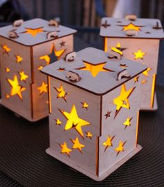 Star Tealight Lamps Set of two by iTagStudios on Etsy