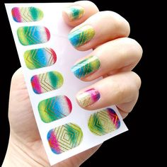 [Visit to Buy] Water Transfer geometry 3D Nail stickers Nail Art Tips Decal Wraps Acrylic Manicure Decorations Beautiful DIY Nail Accessories #Advertisement