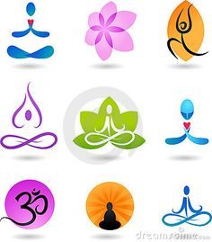 Collection of Zen icons and logos - vector illustration