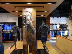 Nike Trail Running Zoom  retail display sports shoe display plinths.