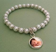 Mini glass photo charm bracelet kit. So easy to make and so cute!
