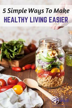 We all want to be healthy, but sometime it's hard to know where to start. My 5 tips that make living a healthy lifestyle easier! #recipes #healthyrecipes #naturalhealth #weightlosstips