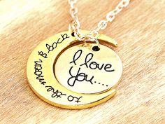 Ketten kurz - BIS ZUM MOND Halskette ich liebe dich Kette gold - ein Designerstück von Kleines-Karma bei DaWanda