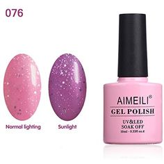 AIMEILI Soak Off UV LED Sun Play Collection Light Color Changing Gel Nail Polish - Drowned in Romance (076) 10ml * Read more reviews of the product by visiting the link on the image. (This is an affiliate link) #NailPolish