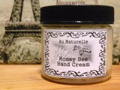 Honey Bee Hand Cream     All Natural     Two Ounce by aunaturelle, $12.00