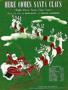 """Here Comes Santa Claus"" sheet music"