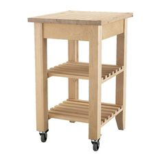 BEKVÄM Kitchen cart - $60.00, paint it, add some towel bars and shelf edges so stuff won't roll off and it perfect for the craft room!