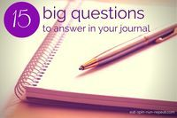15 big questions to answer in your journal: If you're trying to get into the habit of journaling, try answering some of these questions next time you sit down to write. My Journal, Journal Prompts, Art Journals, Bullet Journals, Gratitude Journals, Journal Topics, Writing Journals, Journal Quotes, Creative Writing