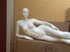 Lana #1: Sexy Reclining Female Mannequin with Realistic Face