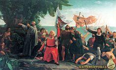 Dióscoro Teófilo de la Puebla, Primer desembarco de Cristóbal Colón en América.