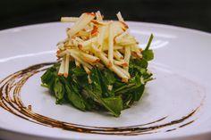 Plated Apple and Arugula Salad