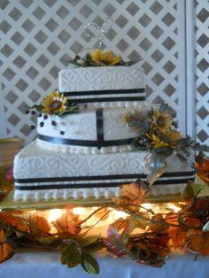 Fall wedding cake I made.