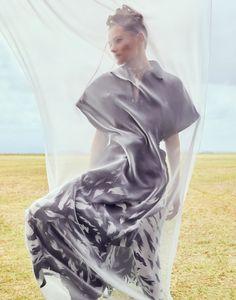 Edita Vilkeviciute | Safari Fashion Editorial | ELLE France Cover