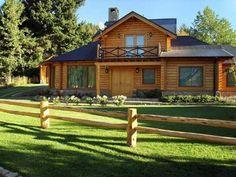 Casas Tudor, Dream Home Design, House Design, Future House, Log Cabin Living, 2 Storey House, Tudor House, Style At Home, Log Homes