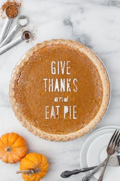 Give Thanks and Eat Pie pie stencil. Available with Cricut ready file. : Give Thanks and Eat Pie pie stencil. Available with Cricut ready file. Thanksgiving Pies, Thanksgiving Blessings, Cupcakes, Pumpkin Spice, Pumpkin Farm, Sweet Tooth, Sweet Treats, Food Porn, Favorite Recipes