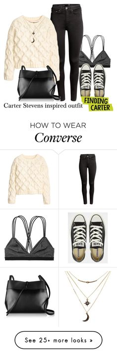 """Carter Stevens inspired outfit/FC"" by tvdsarahmichele on Polyvore featuring Victoria's Secret, H&M, Converse, Kara and Charlotte Russe"