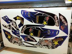 Yamaha Raptor 660 rockstar hart and huntington atv mx graphics kit by Fireblade Graphics.