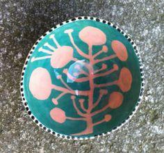 John ffrench ice-cream bowl, 2008 John Ward, Ice Cream Bowl, Galway Ireland, Contemporary Ceramics, Earthenware, Ceramic Art, Pink And Green, Circles, Glaze