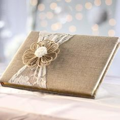 Rustic Lace and Burlap Guest Book - Wedding Ceremony Accessories - Wedding Supplies - Party & Special Occasions Wedding Reception Planning, Wedding Guest List, Brunch Wedding, Wedding Guest Book, Wedding Ceremony, Wedding Gifts, Wedding Venues, Top Wedding Trends, Lilac Wedding