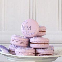 Purple Monogram Wedding Favor