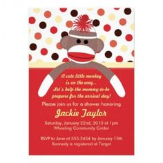 Are you looking for monkey baby shower invitations? Here are some great ones for your little monkey!