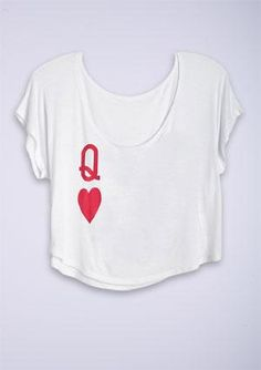 dELiAs > Queen Of Hearts Tee > tops > graphic tees > view all graphic tees from delias. Saved to Casual-T's. Lizzie Hearts, Queen Of Hearts, Girl Outfits, Cute Outfits, Fashion Outfits, Trend Fashion, Fashion Fashion, Find Girls, Heart Shirt