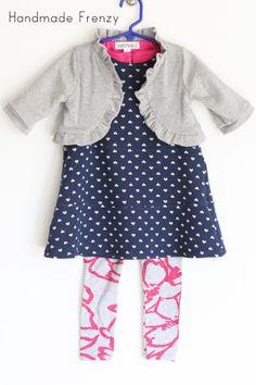 Sewing Patterns:Ruffle Bolero, Norah Dress, Fancy Pants Leggings