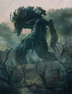 Done for new gothic fantasy board game Folklore, from Green Brier Games. I was fortunate enough to create almost all the art for the game. In the Shadow of Ancients Forest Creatures, Magical Creatures, High Fantasy, Fantasy World, Creation Art, Fantasy Kunst, Creature Concept, Cthulhu, Fantasy Artwork