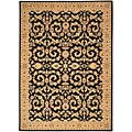 Arabesque Juliard Cannon Black Wool Rug (5'6 x 7'5) Today $699.00 @ Overstock