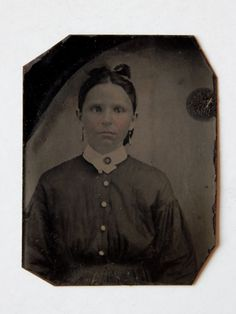 Antique Tintype Photo Victorian Young Woman by HiddenStairwayFinds