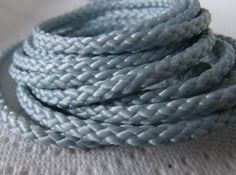 BLUE NYLON Cord Braided Cord 3.5mm thick high by OhalaCreations