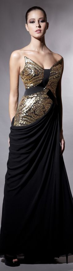Interesting B and Gold Gown