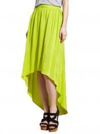 Cut25 lime hi-low skirt