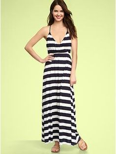 Striped Maxi Dress Gap