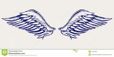 Find Angel Wings Doodle Style Raster Version stock images in HD and millions of other royalty-free stock photos, illustrations and vectors in the Shutterstock collection. Wing Tattoos On Wrist, Feather Tattoos, Foot Tattoos, Cute Tattoos, Body Art Tattoos, Small Tattoos, Sleeve Tattoos, Angel Wings Clip Art, Angel Wings Tattoo On Back