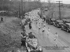 The start of the Boston Marathon in 1939.