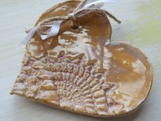 Ring Bearer Bowl Heart Tray ceramic. $13.99, via Etsy.